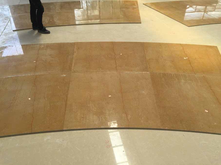 King Gold Marble wall panels