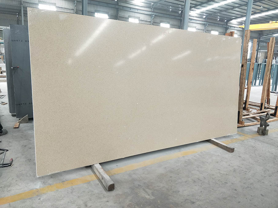 Mirror Beige Quartz Slab